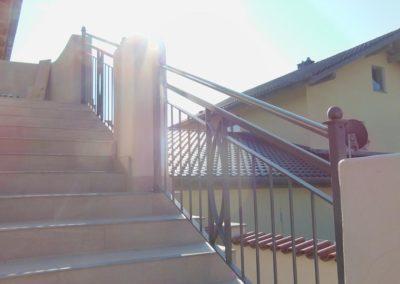 Geländer - feuerverzinkt und Pulverbeschichtet mit Muster