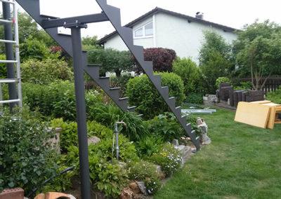 Montage einer Treppe